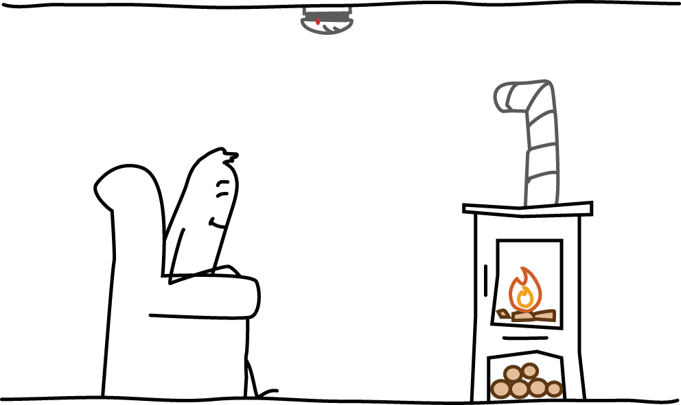 Räume mit Kaminofen