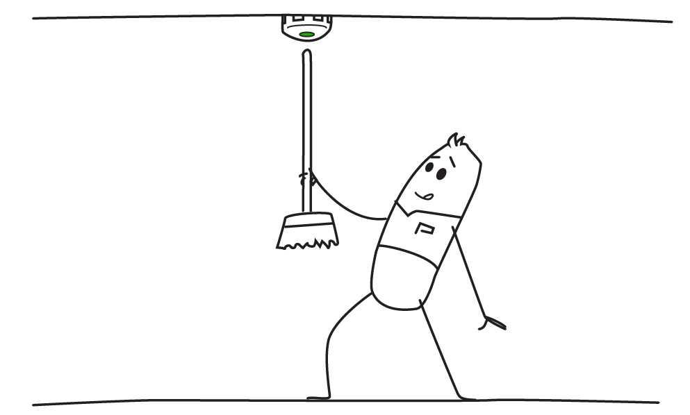 Funkrauchmelder mit Stummschaltung