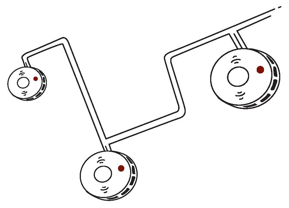 Funkrauchmelder per Draht vernetzen